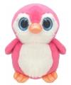 Pluche pinguin knuffel 17 cm roze