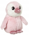 Pluche pinguin knuffel roze 18 cm