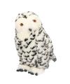 Zittende pluche knuffel sneeuwuil 30 cm